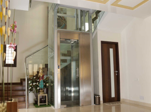 Roped hydraulic residential elevators