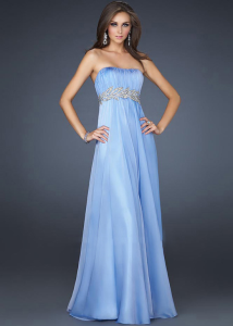 Strapless Long Prom Dress