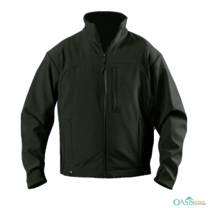 Olive Green Fleece Zipped Jacket