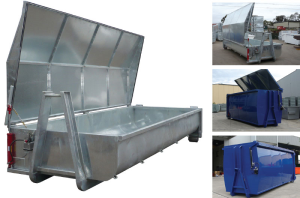 Hooklift Bin with Hydraulic Lid