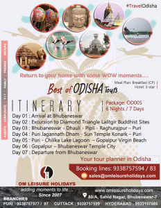 6 Nights / 7 Days  Best of Odisha Tours
