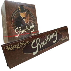 BUY Smoking Brown King Size Unbleached Rolling Papers
