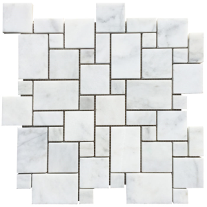 Marble Polished Mosaic Tile Carrara White Versailles Pattern