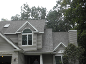 Roofing material cleaned