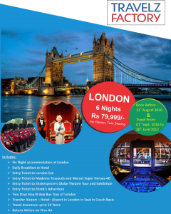 London-Paris Tour holiday packages from Delhi