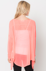 asymmetrical tunic tops coral