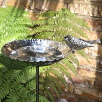 metal bird bath