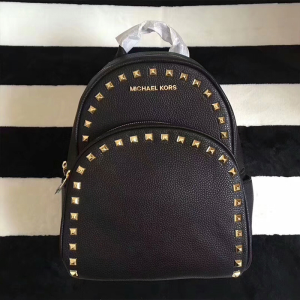 MICHAEL Michael Kors Abbey Studded Leather Backpack Black