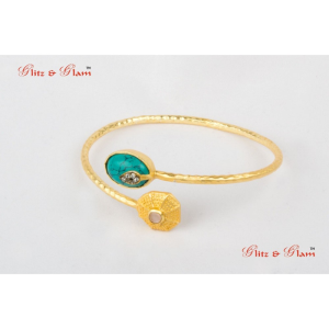 Cuffs - bracelet studded with turquoise stone