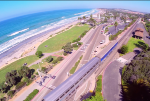 Sea, Green Areas and Railway in San Diego