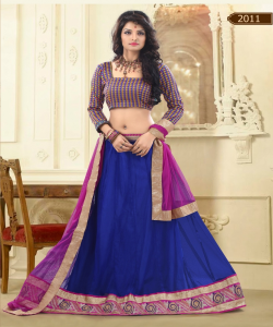 Online Shopping India - Designer Blue Lehenga Choli by Sunder Creation