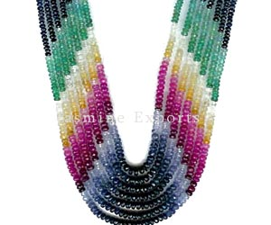 Multi Color Stone Gemstone Beads