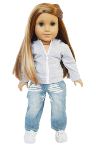 American Doll Clothes|Denim Jeans and Hoody