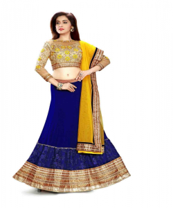 online shopping india - Ambaji Designer Navy colored Lehenga Choli