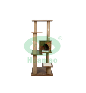 Multi-level Solid Wood Cat Scratching Board