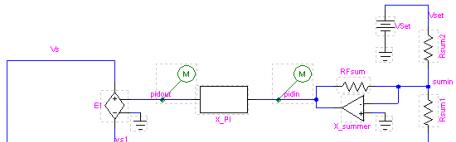 Circuit design using a feedback loop