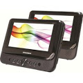 "Sylvania Refurbished Sylvania SDVD8716-COM 7"" Dual-Screen Portable DVD Player, Black at Sears.com"