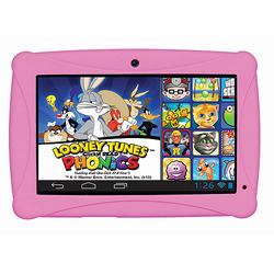 "ClickN KIDS 7"" 8GB Tablet - featuring Looney Tunes Phonics Color Pink"