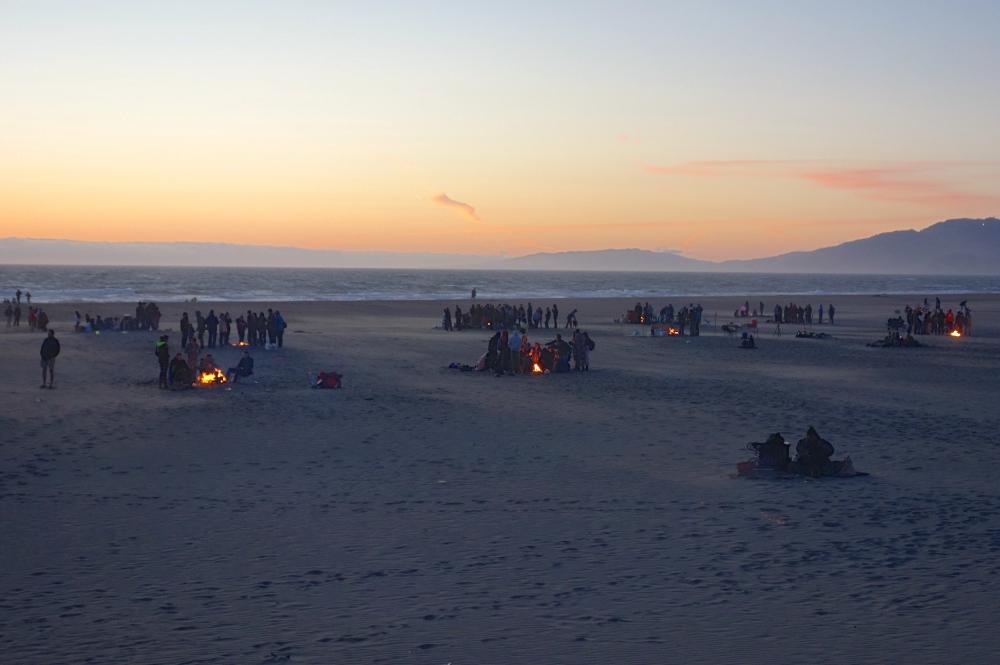 Bonfires on Ocean Beach