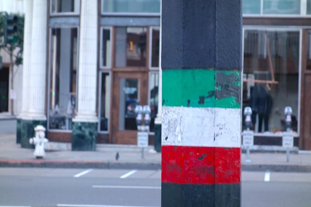 Italian Flag Pole