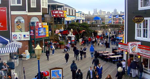 Pier 39 crowds