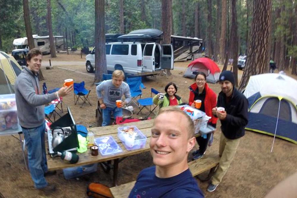 Yosemite Camping Trip Campsite Selfie