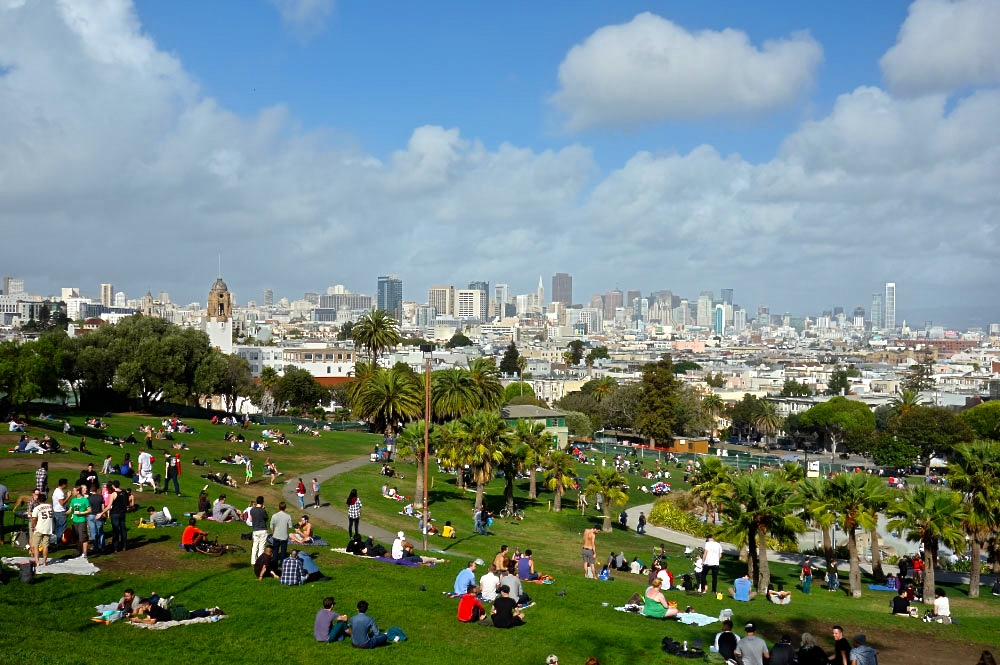Best View in San Francisco Dolores Park