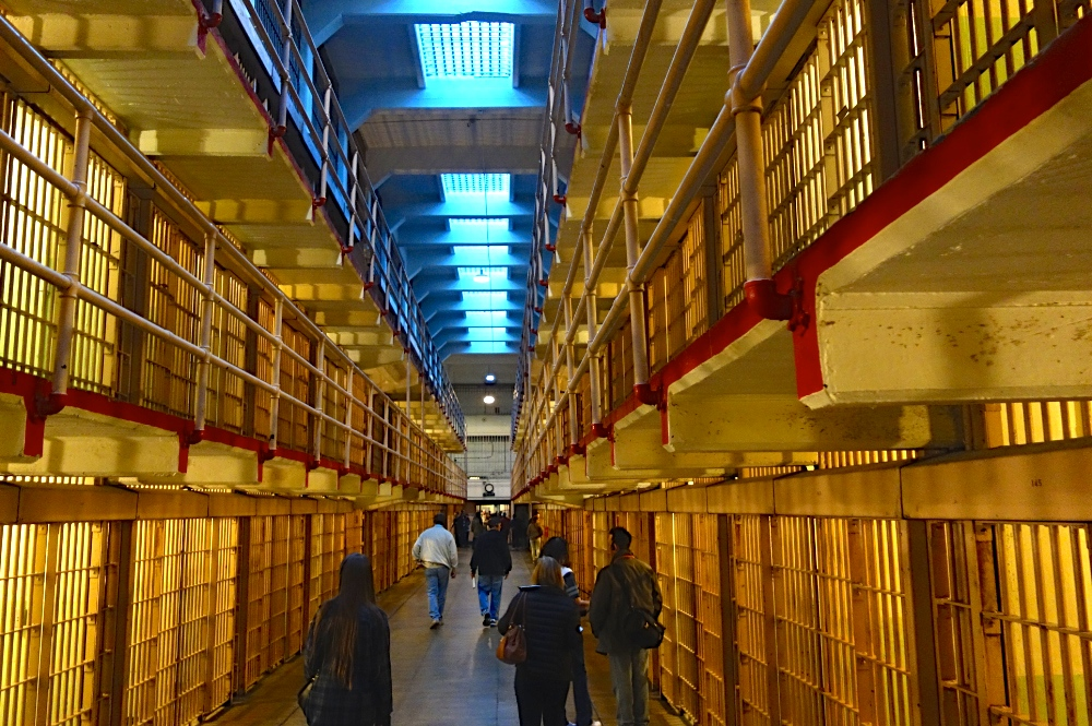 Inside the Alcatraz cell block