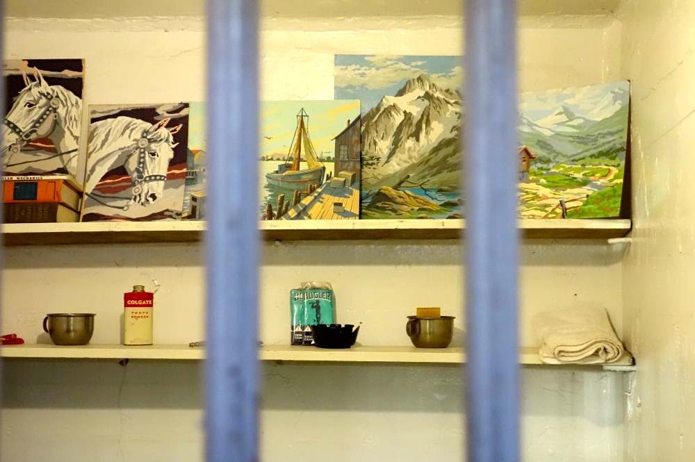 Prisoner artwork in cell