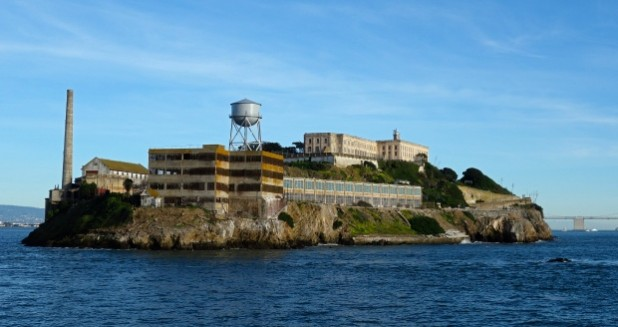 Alcatraz view from boat