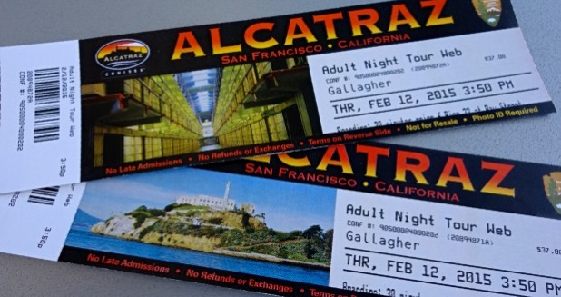 Alcatraz Tickets for Night Tour