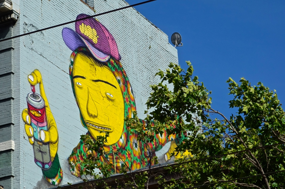 Market Street Graffiti Man