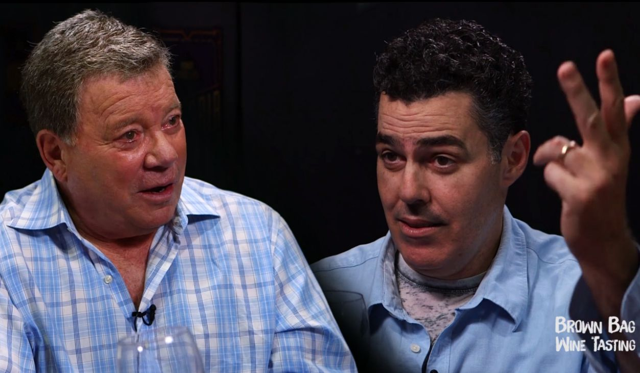 Adam Carolla on Brown Bag Wine Tasting with William Shatner