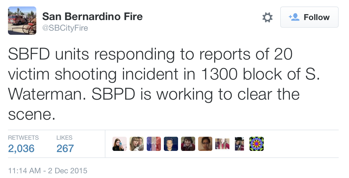 Active Shooter in San Bernardino