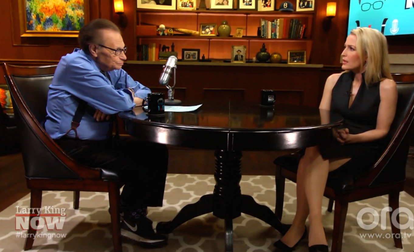 Larry King & Gillian Anderson