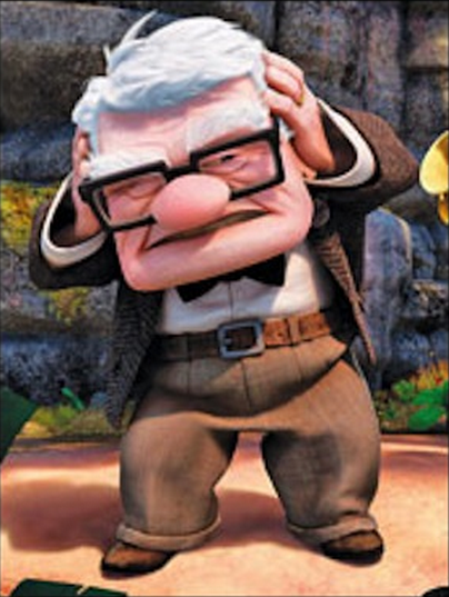 Camp old man from up
