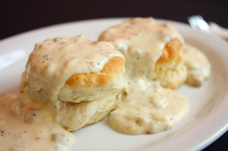 Alton Brown's Southern Style 'Biscuits & Gravy' Recipe