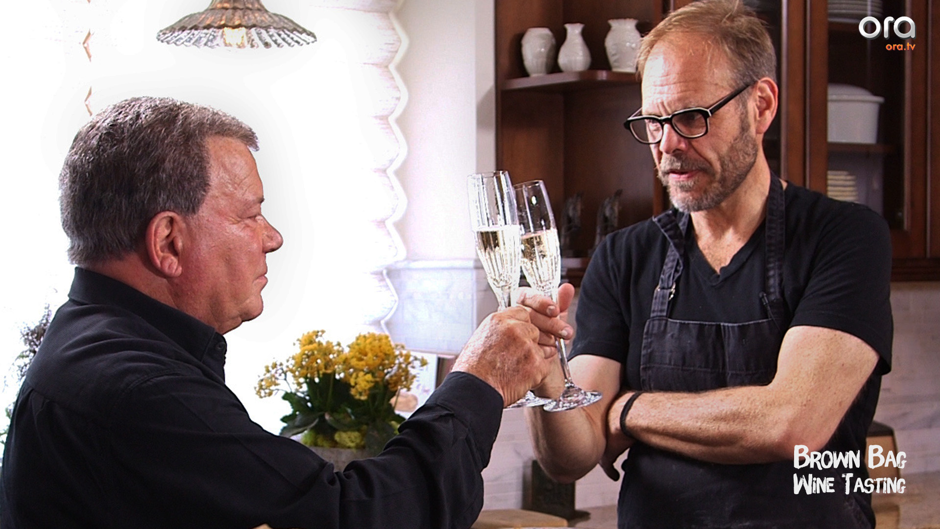 Alton Brown & William Shatner - Brown Bag Wine Tasting