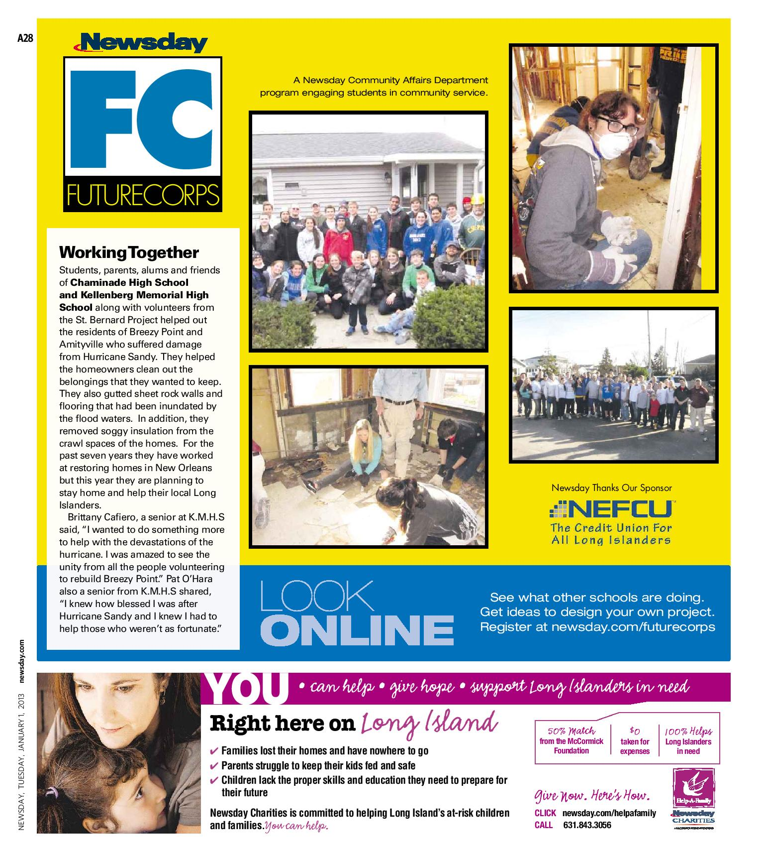 Newsday FutureCorps 2013
