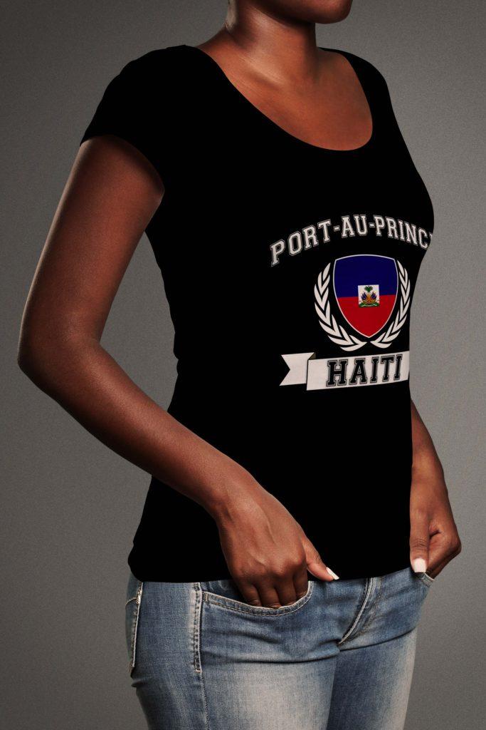 Camilla-sideways-tshirt-haiti-wreath