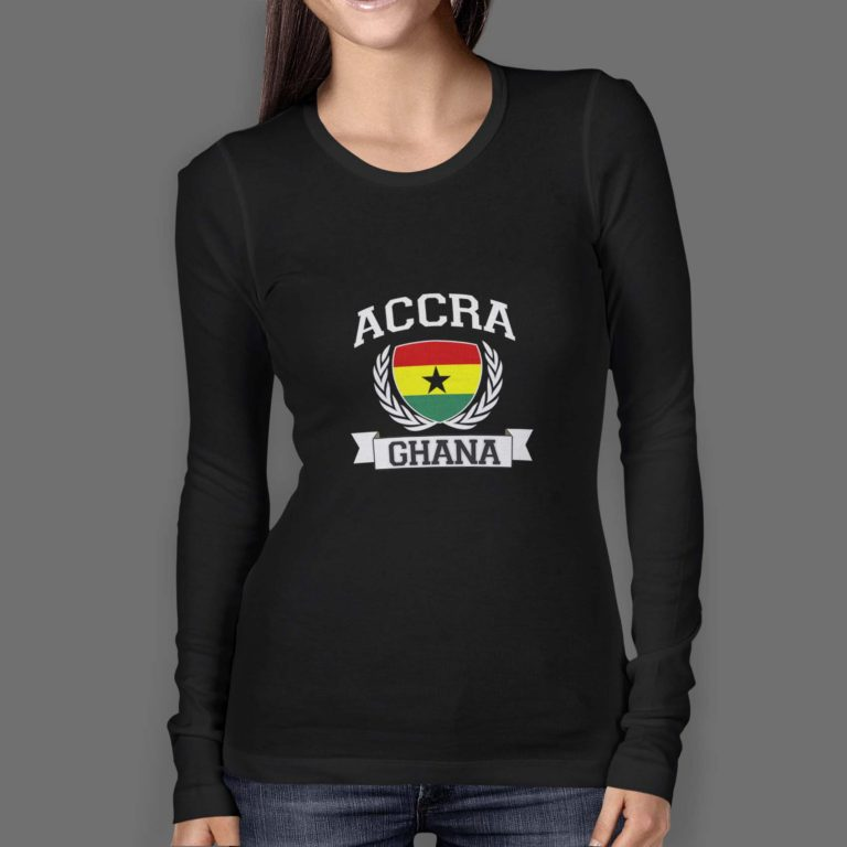 Womens-Longsleeve-O-Neck-FRONT-black-accra-ghana-wreath