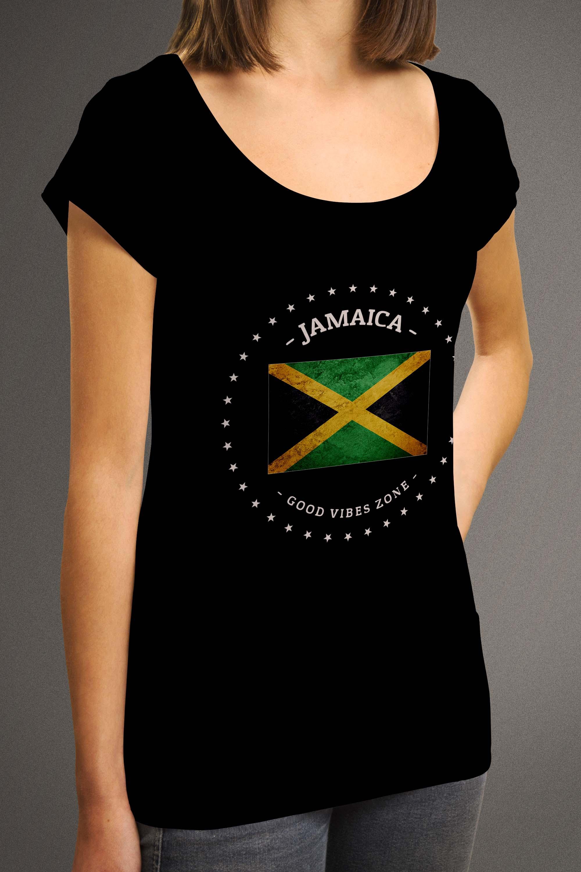 Origin Clothing Womens Jamaica T Shirt Good Vibes