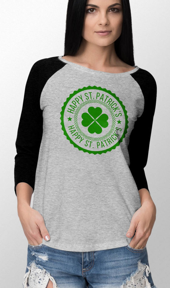 Brianna-baseball-long-sleeve-female-front-black-on-heather-grey-st-patricks-day