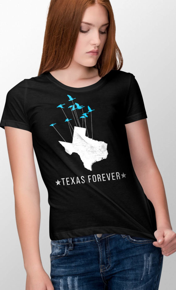 sonja-crew-neck-female-tshirt-front-01-black-texas-forever-birds-12×18