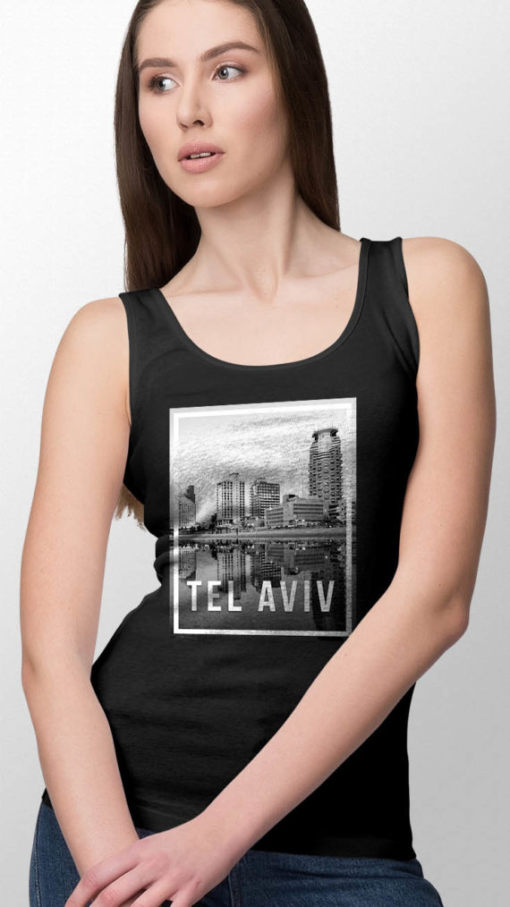 Model Scarlett in Tel Aviv Tank Top