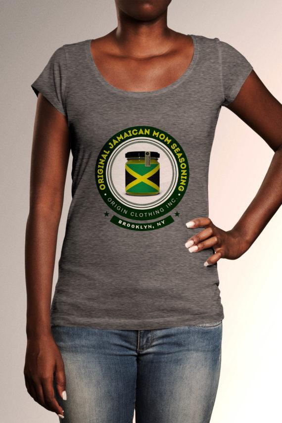 Camilla-front-one-elbow-tshirt-envato-origin_deep_heather_grey-12x16_jamaican-stuff-sizes-women-condensed