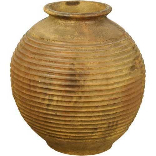 Round Ribbed Urn 29