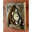 Oak Leaf Tracery Mirror Glass