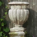 Carved Stadium Urn 20  H
