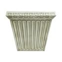 Fluted Square Pot 11.5 H (R)